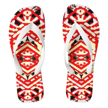 Beach Themed Nu One Red Urban Style Flip Flops 1