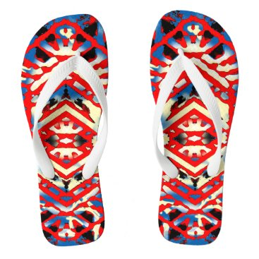 Beach Themed Nu One Red Urban Style Flip Flops 2