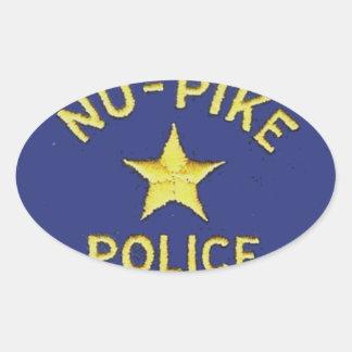 Nu-Pike Police Oval Sticker