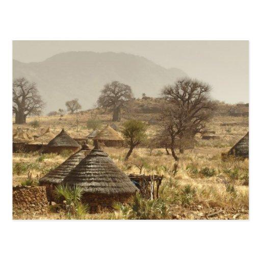 Nuba Mountains, Nugera village Post Card