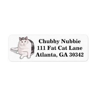 Nubbie the Japanese Bobtail Address Labels