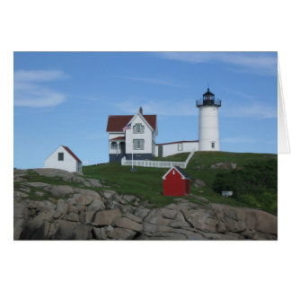Nubble Light---A Beacon to Light Your Way. Card