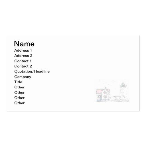 Nubble Light Business Card