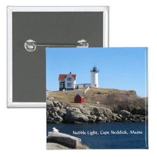 Nubble Light Cape Neddick Maine Button
