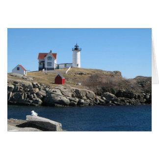 Nubble Light Cape Neddick Maine Card