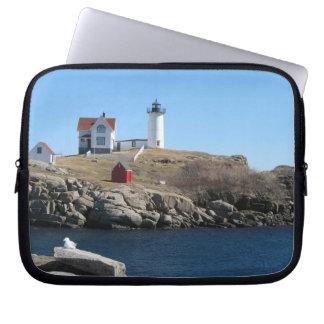 Nubble Light Cape Neddick Maine Computer Sleeve
