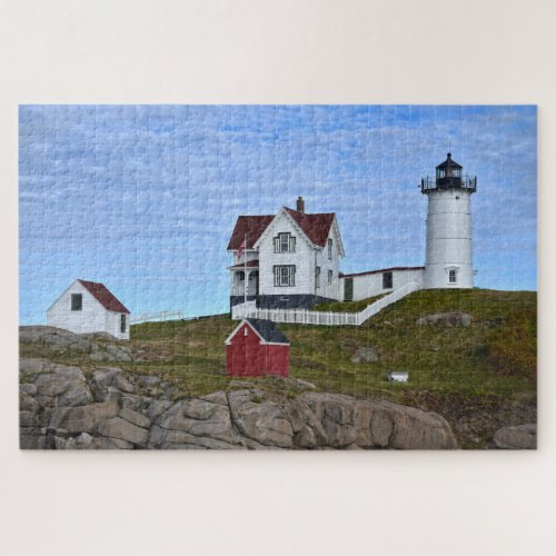 Nubble Light, Cape Neddick, Maine Jigsaw Puzzle