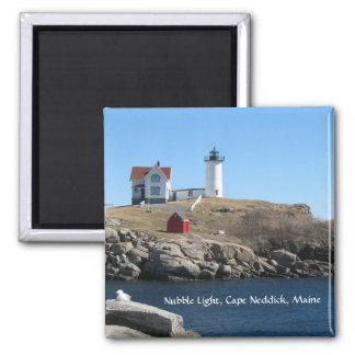 Nubble Light Cape Neddick Maine 2 Inch Square Magnet