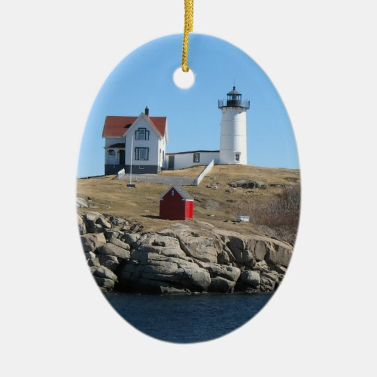Nubble Light Ceramic Ornament