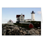 Nubble Light, Charcoal Style Greeting Cards