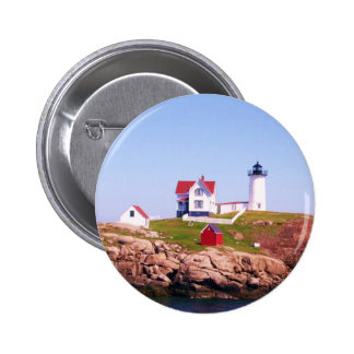 Nubble LIght House Pinback Button