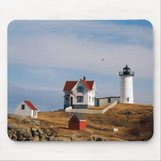 Nubble Light Lighthouse Cape Neddick Maine Mouse Pad
