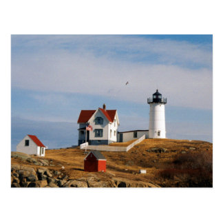 Nubble Light Lighthouse York Maine Postcard