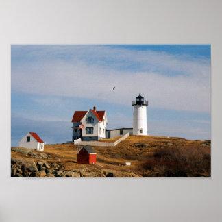 Nubble Light Lighthouse York Maine Poster
