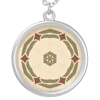 Nubble Light Round Pendant Necklace
