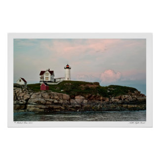 Nubble Light Sunset Poster