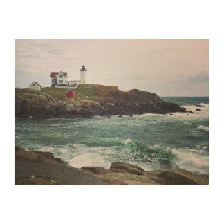 Nubble Light - York, Maine 24 x 18 Wood Wall Art