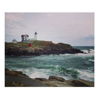 Nubble Light - York, Maine 24 x 20 Poster Print