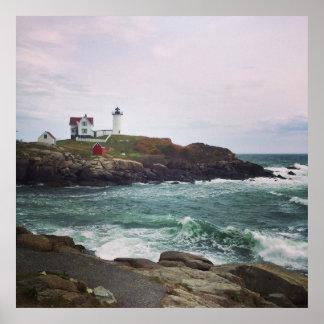 Nubble Light - York, Maine 24 x 24 Poster Print