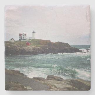 Nubble Light - York, Maine Stone Coaster