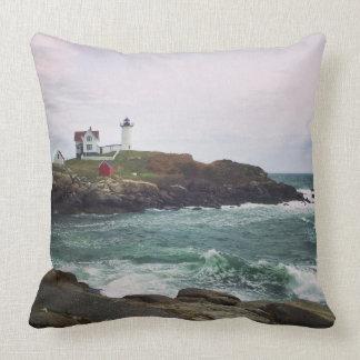 Nubble Light - York, Maine Throw Pillow