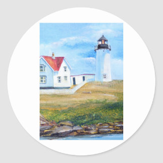 Nubble Lighthouse #1 Classic Round Sticker