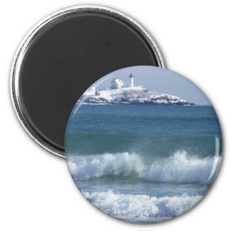Nubble Lighthouse 2 2 Inch Round Magnet