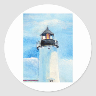 Nubble Lighthouse #2 Classic Round Sticker