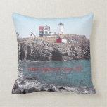 Nubble Lighthouse - American MoJo Pillow