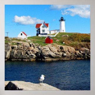 Nubble Lighthouse, Cape Neddick, Maine Print
