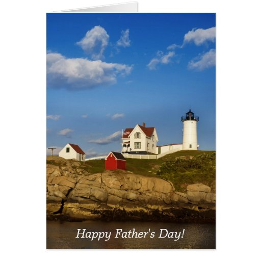Nubble Lighthouse, Happy Father's Day! Card