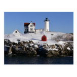 Nubble Lighthouse in Winter Post Cards