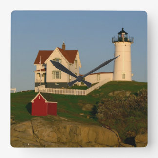 Nubble Lighthouse in York Maine Square Wallclock