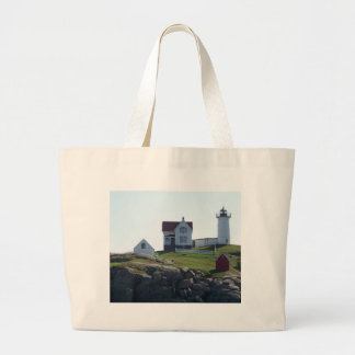 Nubble Lighthouse Large Tote Bag