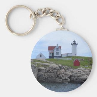 Nubble Lighthouse - Maine Basic Round Button Keychain