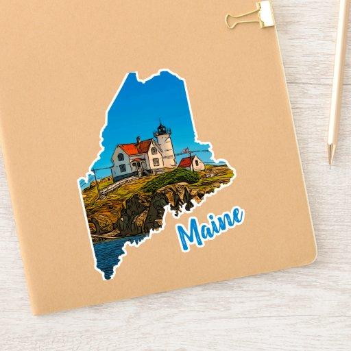 Nubble Lighthouse Maine Nautical Sticker