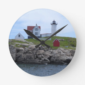 Nubble Lighthouse - Maine Round Clock
