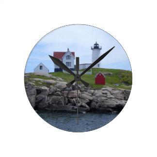 Nubble Lighthouse - Maine Round Clock