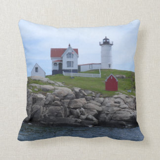 Nubble Lighthouse - Maine Throw Pillow