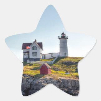 Nubble Lighthouse Star Sticker