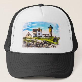 Nubble Lighthouse Trucker Hat