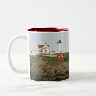 Nubble Lighthouse, York, Maine Two-Tone Coffee Mug