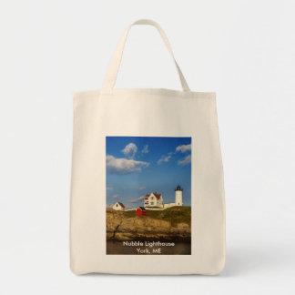 Nubble Lighthouse York, ME Tote Bag