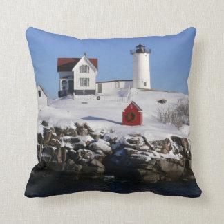 Nubbles Lighthouse American MoJo Pillow