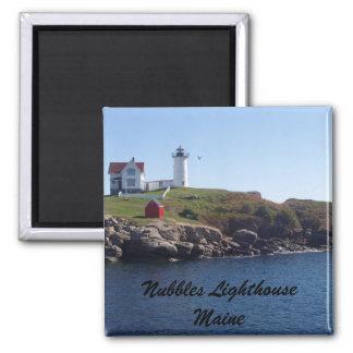 Nubbles Lighthouse-Maine 2 Inch Square Magnet