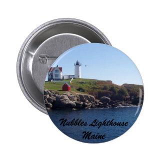 Nubbles Lighthouse-Maine Button