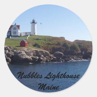 Nubbles Lighthouse-Maine Classic Round Sticker