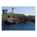Nubbles Lighthouse-Maine Greeting Card