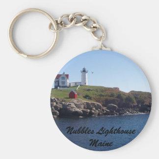 Nubbles Lighthouse-Maine Basic Round Button Keychain