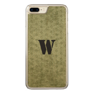 Nubby Army Green Chenille Likeness Carved iPhone 7 Plus Case